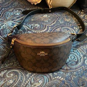 Coach Monogram Belt Bag Fanny Pack Bum Bag